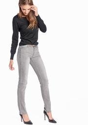 Straught fit jeans met riem, , hi-res