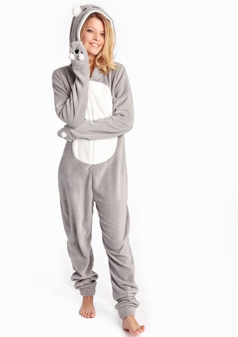 Pyjama onesie koala stijl - LIGHT GREY MEL - 15000399_1061