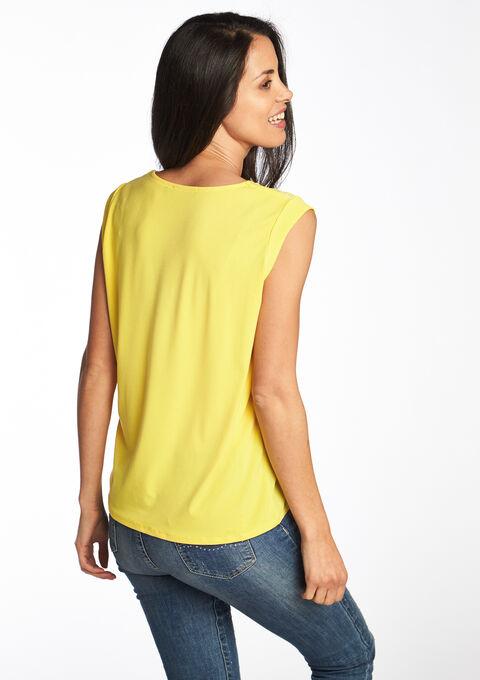 V-hals t-shirt, effen - YELLOW SUMMER - 02005602_1185