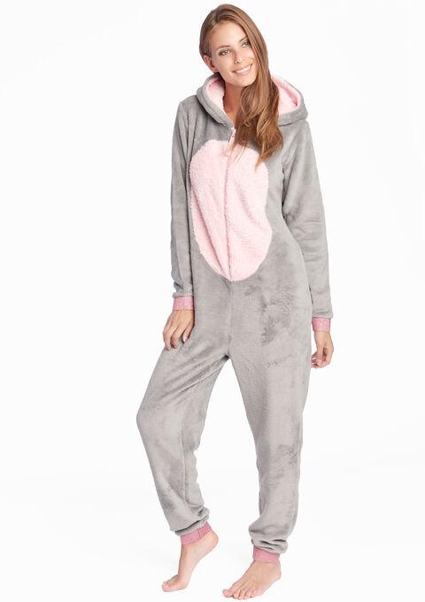 Fantasie onesie unicorn stijl - MEDIUM GREY MEL - 15000387_1068