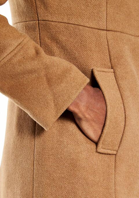 Long manteau avec col - COGNAC - 12000502_1142