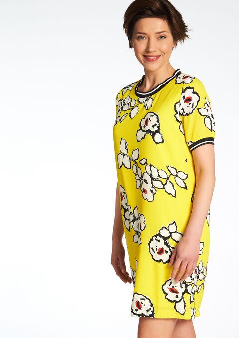 Rechte jurk met bloemenprint - YELLOW SUMMER - 08005946_1185