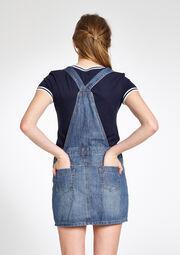 Robe jeans style salopette - MEDIUM BLUE - 794823