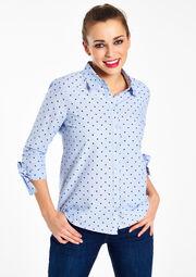 Katoenen blouse met hartjes, , hi-res