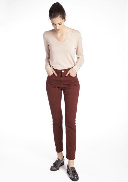 Hoge taille broek met zakken - BORDEAUX PORTO - 06003169_2205