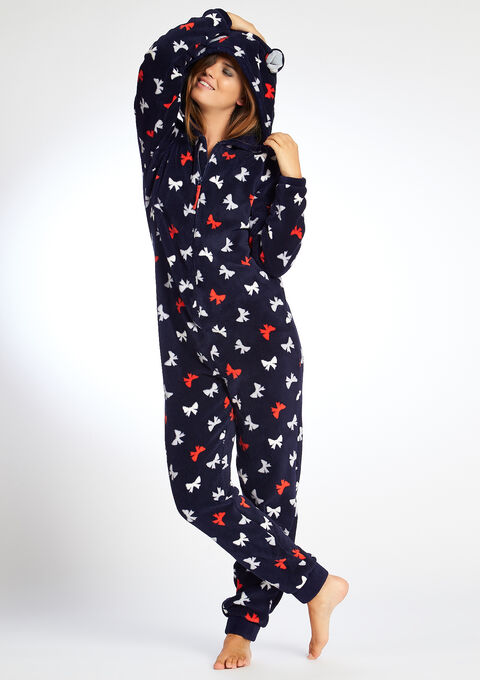 combinaison pyjama imprim noeuds lolaliza. Black Bedroom Furniture Sets. Home Design Ideas