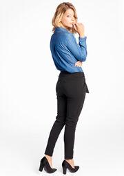 Basic broek met riem - BLACK - 06003263_35
