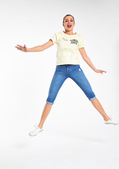 Geprinte T-shirt - YELLOW BIRDY - 02005408_5000