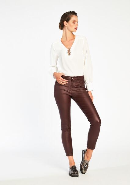 Skinny fit broek , 5 zakken - BORDEAU CHERRY - 06003155_544
