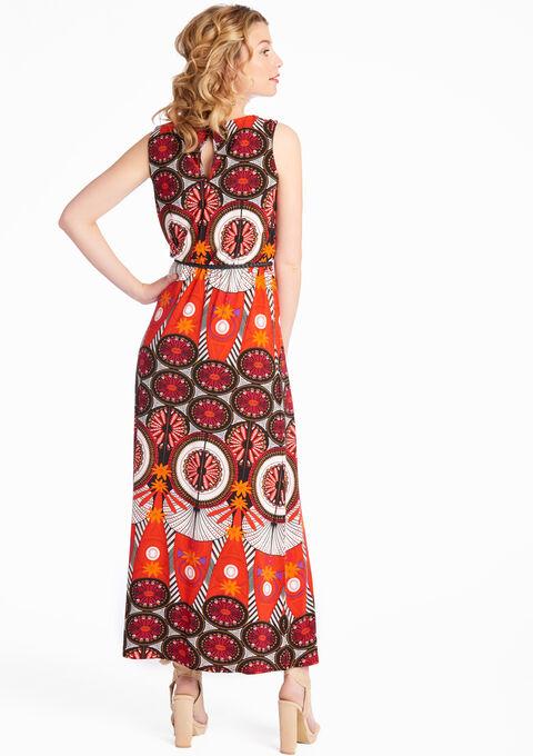 Maxi jurk met print - TOMATO FLAME - 08600003_1457
