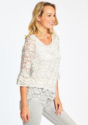 Kanten blouse - IVORY WHITE - 05002888_1011
