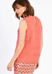 Linnen blouse - CORAIL-KORAAL - 05002876_24