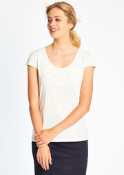 T-shirt met macramé details, , hi-res