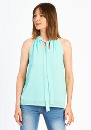 Mouwloze blouse - BLUE TURQUOISE - 05002964_1738