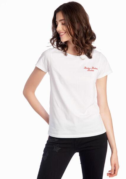 """""""T-shirt met borduurwerk """"""""Babes"""""""""""" - OPTICAL WHITE - 02005286_1019"""