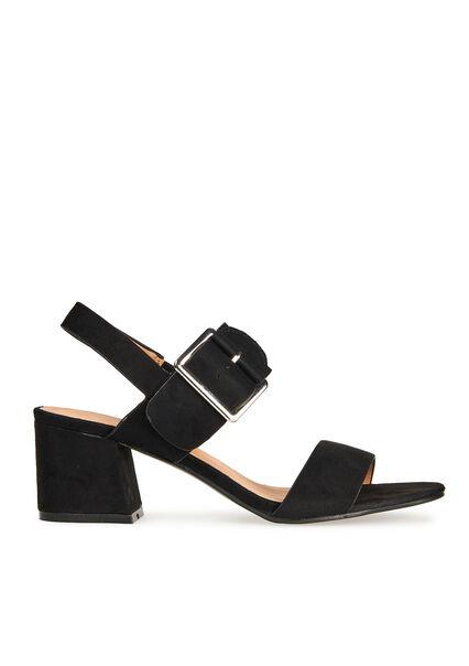 Sandalen met grote gesp - BLACK - 13000324_1119