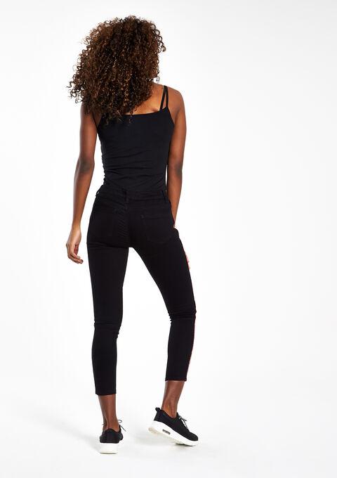 jeans skinny avec bandes sur le cot lolaliza. Black Bedroom Furniture Sets. Home Design Ideas