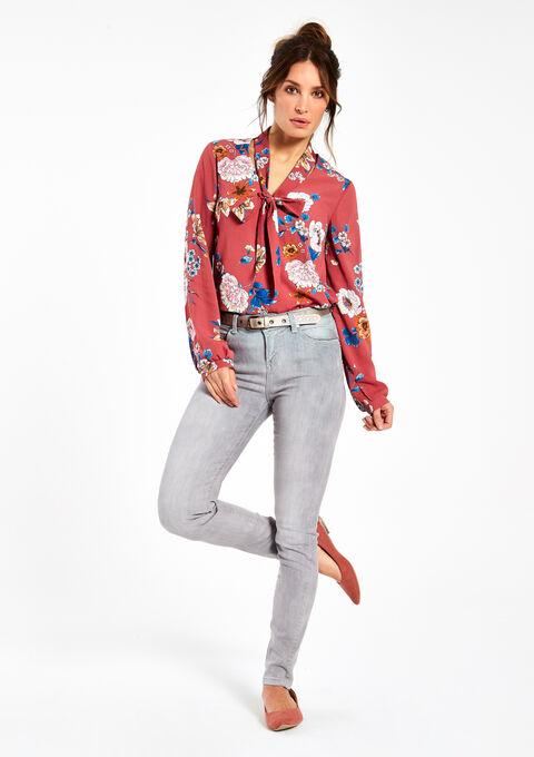 Slim jeans met strass & riem - LIGHT GREY - 06003277_504